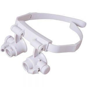 Lente-occhiale di ingrandimento 10X-15X-20X-25X LED