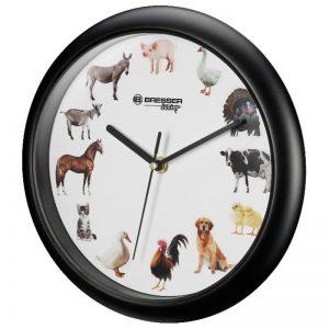 Orologio da parete con versi di animali