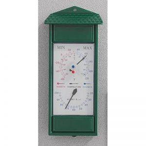Termometro minima massima igrometro verde